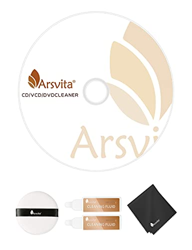 Arsvita Laser Lens Cleaner Disc Cleaning Set for CD / VCD / DVD Player, Safe and Effective, ARCD-04