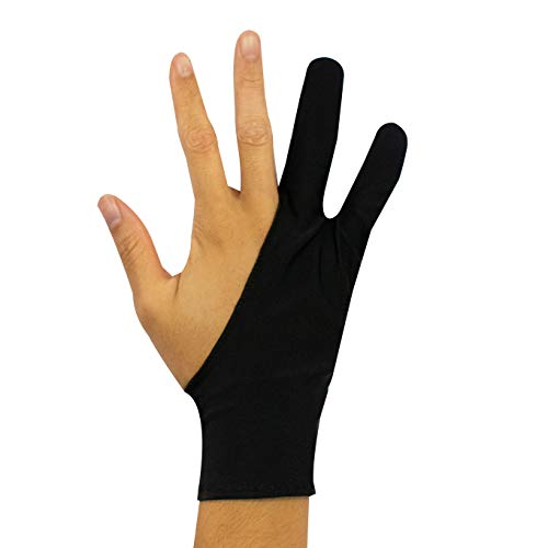 TRIXES 3 Pack of Artists Tablet Drawing Gloves Left or Right Handed Low Friction
