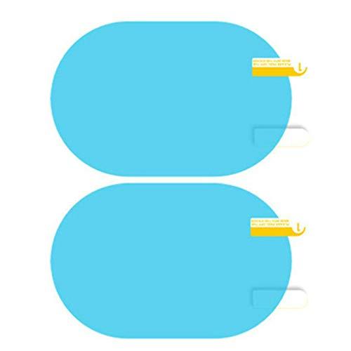 Bomcomi 1 Par hidrofóbica de la película a Prueba de Lluvia Espejo retrovisor de conducción Segura Pegatinas Impermeable Resistente al Rayado del Espejo de Coche de la película