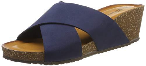 Tamaris Damen 1-1-27267-32 805 Pantoletten Blau (Navy 805), 41 EU