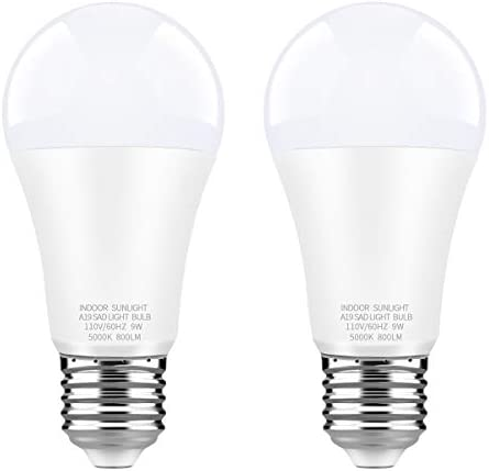 WhitePoplar LED Full Spectrum Light Bulb Light Therapy Lamp Bulb Dimmable Natrual Sunlight Bulb product image