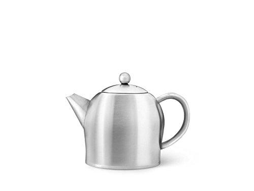 Bredemeijer kleine bauchige doppelwandige Edelstahl Teekanne 0.5 Liter
