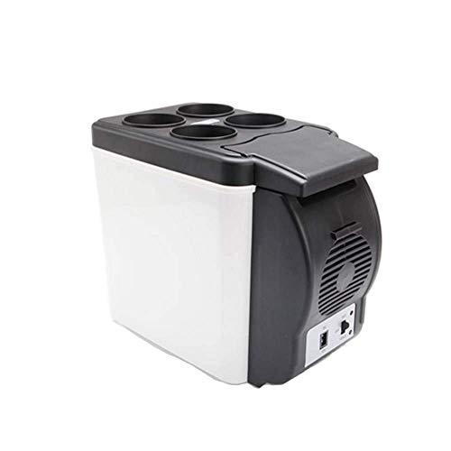 RTYUI Refrigerador De Coche Cool Box 12V / 220-240V para Coche Y Hogar Portátil Refrigerador De Coche Eléctrico Frío Y Cálido 6L [Clase Energética A ++] Negro-30 * 16,5 * 25