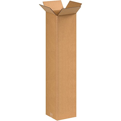 BOX USA B883650PK Tall Corrugated Boxes, 8' L x 8' W x 36' H, Kraft (Pack of 50)