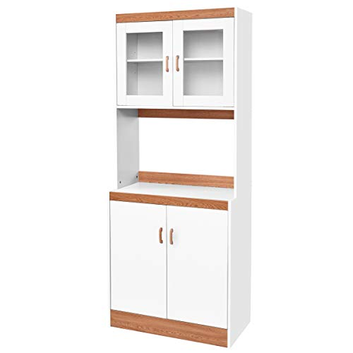 Giantex Kitchen Hutch With Microwave Cabinet   Amazon