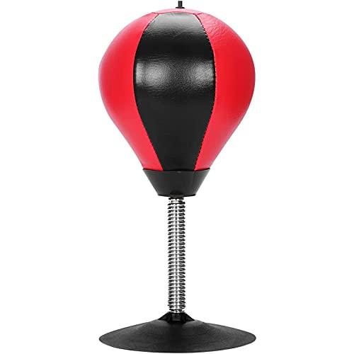Lqdp Punching Ball Punching Ball Desktop, Saco de Boxeo de Cuero con Ventosa y Resorte, para Entrenamiento físico para Adultos/niños/Ancianos, fácil de Instalar
