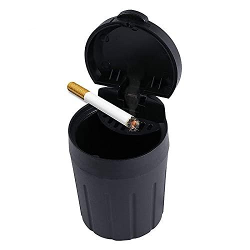 Yetier Cenicero, cenicero de Coche, Soporte para Humo de Cigarrillos, Almacenamiento portátil, Basura Negra para Accesorios de Interior de Coche