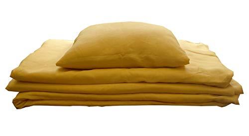 Bettwäsche Set Leinen Mais Gelb 100% Leinen 135x200/80x80 NEU+OVP Limited Edition + Nur begrenzt vorhanden!