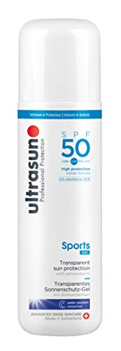Ultrasun Sports Gel Spf50 Transparentes Sonnenschutz-Gel, 1er Pack (1 x 200 ml)