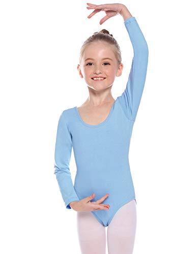 Hawiton Maillot de Gimnasia Ritmica niña 2-12 Años,algodón Elástico de Ballet Body Leotards Gymnastics