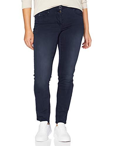 Cecil Damen 373380 unifarbene Style Gesa Hose, deep Blue, W30/L32