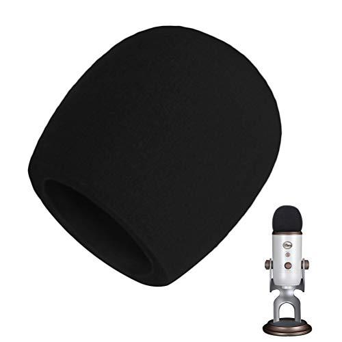 AOBETAK Espuma Microfono Anti Pop,Filtro Antiviento Microfono para Condensador Blue Yeti, Yeti Pro, Color Negro