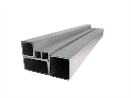 Tubo cuadrado de aluminio, tubo cuadrado, hasta 2 metros, longitud a elegir (40 x 40 x 2 mm, longitud 1000 mm)