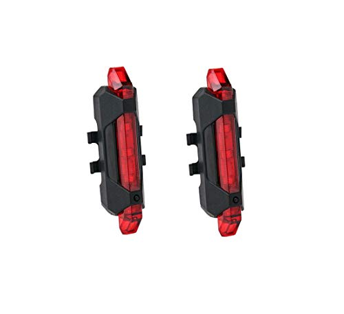 Geeke 2 Fahrradrücklichter, superhelle, wiederaufladbare USB-Fahrradrücklichter, rote, hochintensive LED-Zubehörteile können an jedem Fahrrad oder Helm montiert Werden