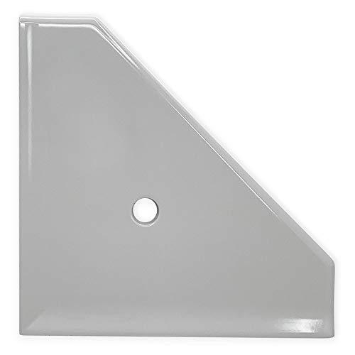 Questech Geo Eckregal, 25,4 cm, Badezimmer-Duschregal, Wandmontage, Eckregal, Duschregal 10 inches Cool Gray