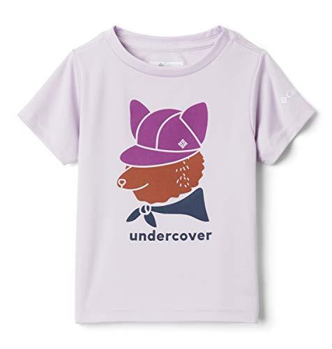 Columbia Camiseta de Manga Corta con Estampado de Petit Pond para niña, Niñas, 1931261, Pale Lilac Foxy Undercover, M