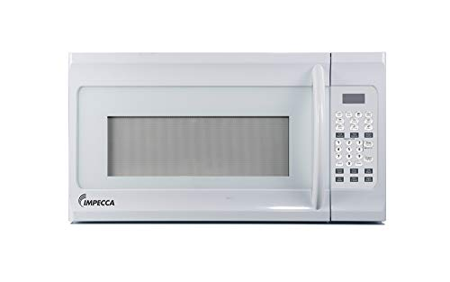 """Impecca 1.6 cu. ft. Over-the-Range 30"""" Microwave Oven 1000 Watts, with Surface Light, 2 Speed Vent System, Touchpad Controls, Digital Clock, Timer, LED Display and Child Lock, White"""