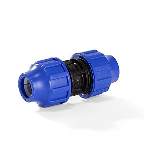 H2O-Flex PP-Fitting, Klemmverbinder - Kupplung für PE-Rohr, 25 mm, DVGW