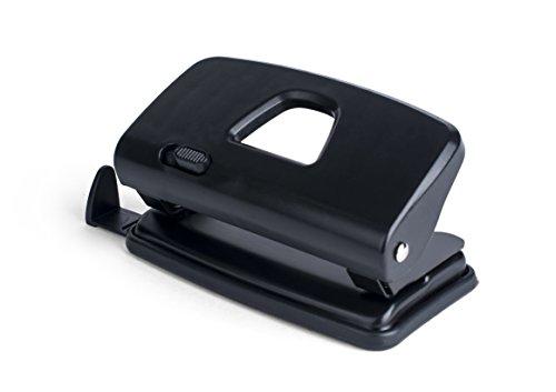 Pavo 8040285 Premium 4-fach Locher mit Anschlagschiene für 22 Blatt, schwarz