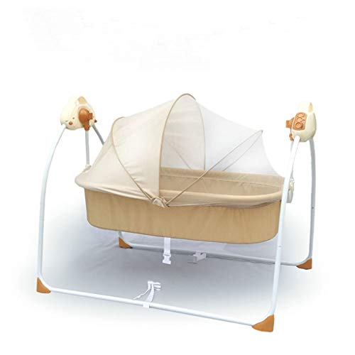Great Features Of TangMengYun Safety Electric Cradle Bed Baby Rocking Bed Newborn Sleeping Intellige...