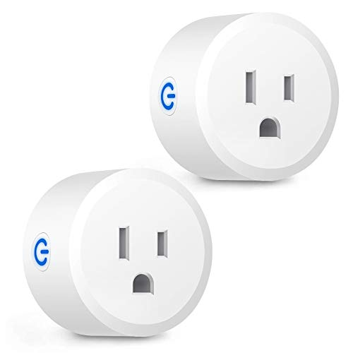 Zigbee Smart Plug, Mini Smart Outlet Switches Compatible with Alexa Echo Plus SmartThings Hub Google Home Voice Pairing Remotely Control Your Home Appliances from Anywhere - 2 Pack (Hub Required)