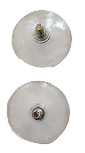 55mm Saugnapf mit M6 Gewinde - Gewindelänge 12mm - Profi - / Industrie - Große Haltekraft Saugnäpfe - Bau & Werkstatt & Maschinenbau - TRANSPARENT (4)