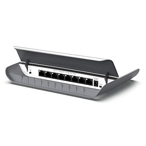 Netgear GS908 8-Port Gigabit Ethernet LAN Switch Unmanaged (schickes Desktop-Gehäuse, integrierte Kabelführung, lüfterloses Design für leisen Betrieb) weiß