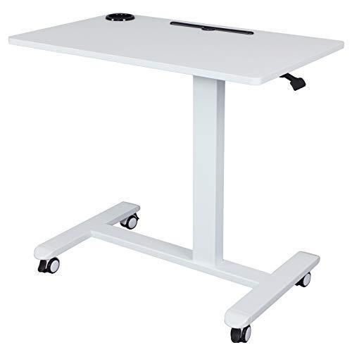AIMEZO Mesa de ordenador Mesa de escritorio para ordenador portátil Mesa ajustable en altura Mesa de sobremesa Mesa portátil Mesa de sofá Blanco