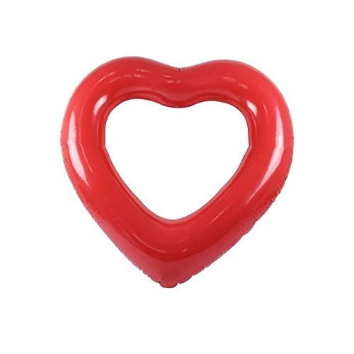 Anillo Inflable de Piscina gzadqAnillo de natación Inflable Rojo Herramienta Flotante en Forma de corazón Piscina Salvavidas 90cm (35.43in)