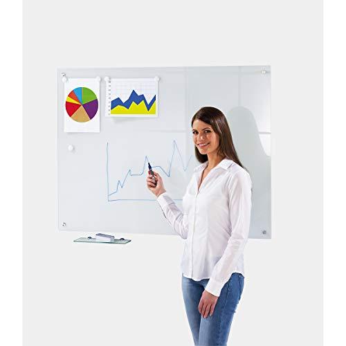 Tableau blanc en verre - l x h ext. 1200 x 900 mm - blanc - Memoboard Memoboards Panneau magnétique Panneaux magnétiques Tableau Tableau blanc Tableau de verre Tableau en verre Tableau magnétique Tableau mural Tableaux Tableaux blancs Tableaux de verre