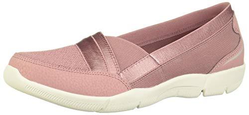 Skechers Be-Lux-Daylights, Zapatillas Mujer, Rosado (Ros Black Mesh/Durabuck/Trim), 39.5 EU