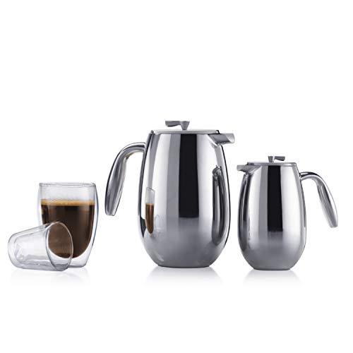 BODUM ボダム COLUMBIA コロンビア ダブルウォール フレンチプレス コーヒーメーカー 350ml シルバー 【正規品】 1303-16