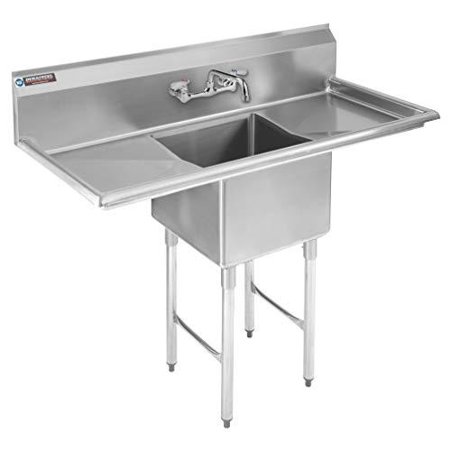 Double Stainless Steel Kitchen Sink Drainboard