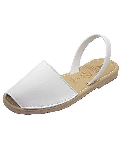 Authentische VEGANE menorquinische Sandalen (Avarcas), Damen - Macarella, Weiß, 41