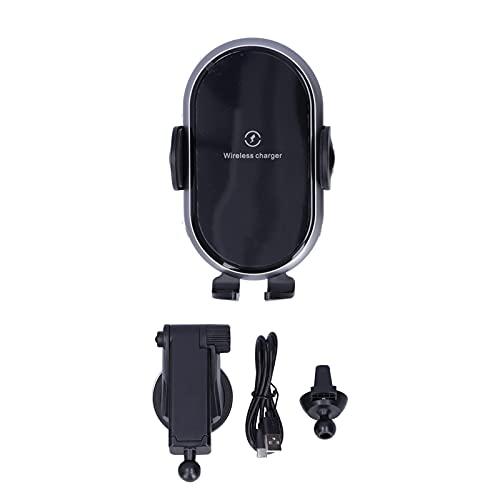 Cargador de Coche inalámbrico, Soporte de Carga de teléfono móvil con Sensor Inteligente automático para una conducción Segura