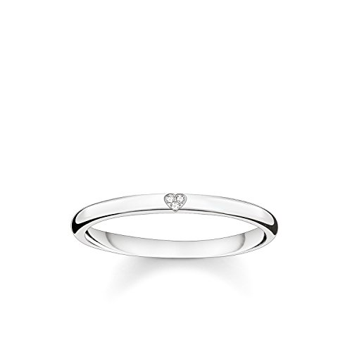 THOMAS SABO Damen-Ring Herz 925 Sterling Silber Diamant D_TR0016-725-14-54