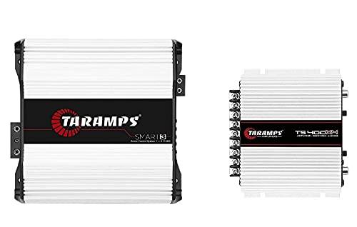 Taramps Smart 3 1~2 Ohms 3000 Watts Class D Mono Amplifier + TS400x4 Amp HD Car Amp