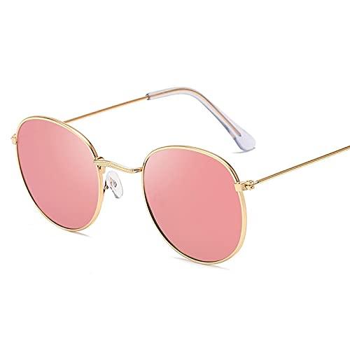 ShSnnwrl Gafas De Moda Gafas De Sol Gafas De Sol De Aleación Redondas Clásicas Gafas De Sol De Mujer Gafas De Sol De Montura Pequeña Gafas De Sol Vintage