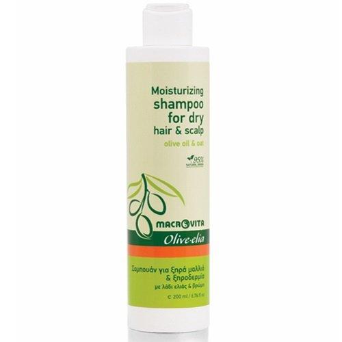 Olivelia Shampooing hydratant pour cheveux secs et cuir chevelu à l'huile d'olive et d'avoine 200 ml.