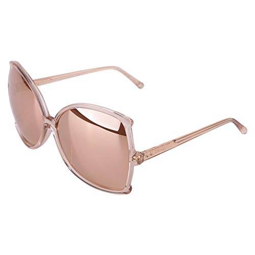 LINDA FARROW Luxury Fashion Donna LFL514C4SUNROSGD Oro/Rosa Occhiali da Sole   Stagione Permanente