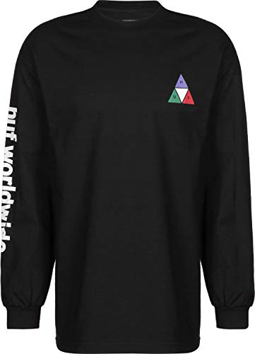 HUF Prism Triple Triangle Longsleeve Black