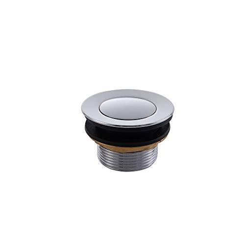 Schwänlein® Ablaufventil für Badewanne Badewannenstöpsel Ablaufgarnitur Ablauf Click (chrom)