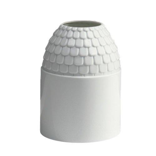 INDUSTREAL Vase ECAILLE Vaso in Porcellana Bianca Smaltata