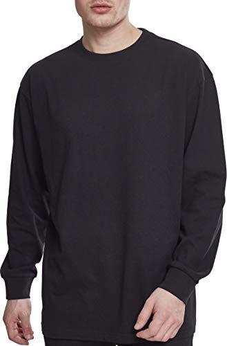 Urban Classics Herren Boxy Heavy Longsleeve Langarmshirt, Schwarz (Black 00007), L