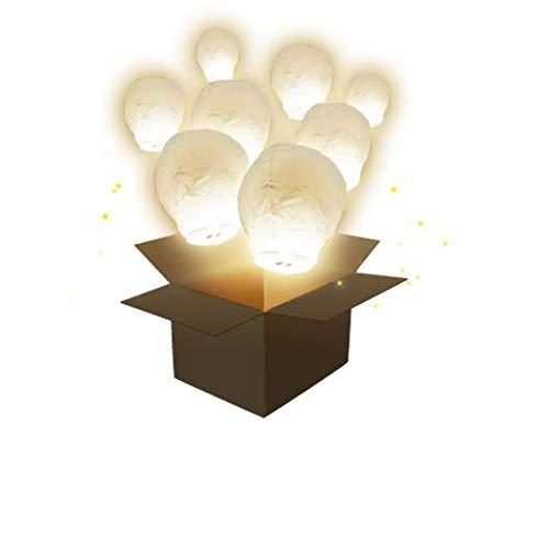 Lanterne Volante Balloon Blanc x3