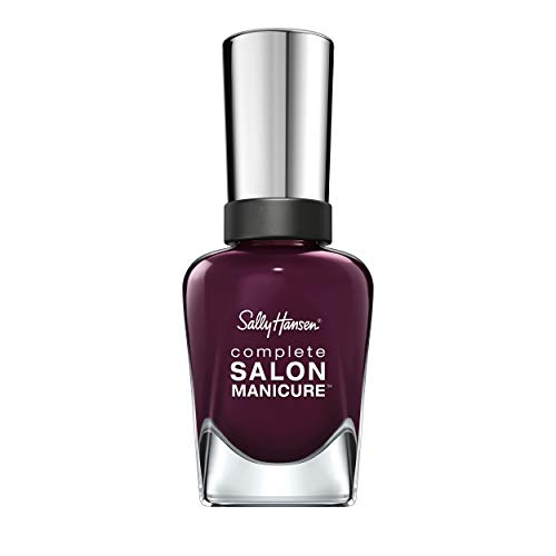 Sally Hansen Complete Salon Manicure Nagellack, Farbe 660, Pat on the Black, dunkles pflaumen / lila, 1er Pack (1 x 15 ml)