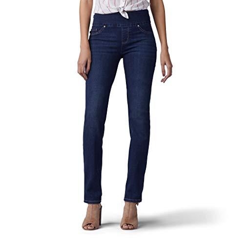 Lee Women's Sculpting Fit Slim Leg Pull on Jean, Infinity, 18 Short