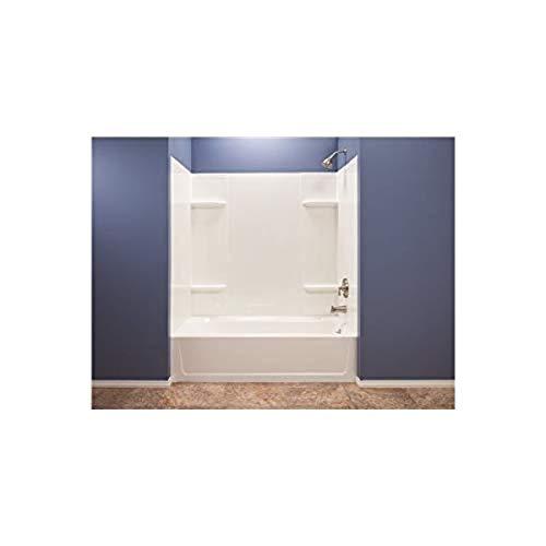 Mustee 53WHT Durawall Fiberglass Bathtub Wall Surround in White