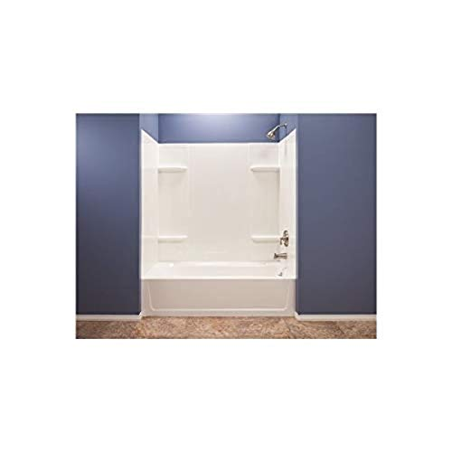 El Mustee 53WHT Durawall Thermoplastic Bathtub Wall Kit, 5...