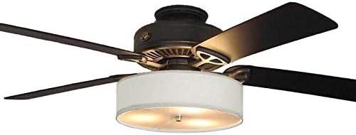 Fan Light Kit Linen Drum Shade Parchment Fan Not Included Amazon Com